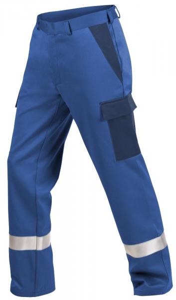 Teamdress-PSA, Gießerei/Schweißer-Bundhose mit Beintaschen und Reflexstreifen, EN ISO 11612, kornblau/marine