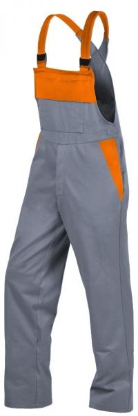 Teamdress-PSA, Gießerei/Schweißer-Latzhose, EN ISO 11612, grau/orange