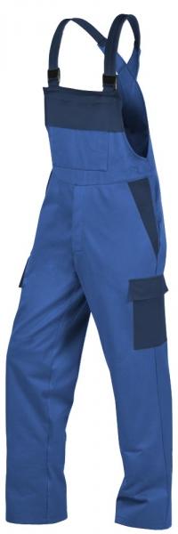 Teamdress-PSA, Gießerei/Schweißer-Latzhose mit Beintaschen, EN ISO 11612, kornblau/marine