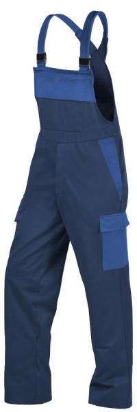 Teamdress-PSA, Gießerei/Schweißer-Latzhose mit Beintaschen, EN ISO 11612, marine/kornblau