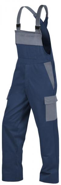 Teamdress-PSA, Gießerei/Schweißer-Latzhose mit Beintaschen, EN ISO 11612, marine/grau