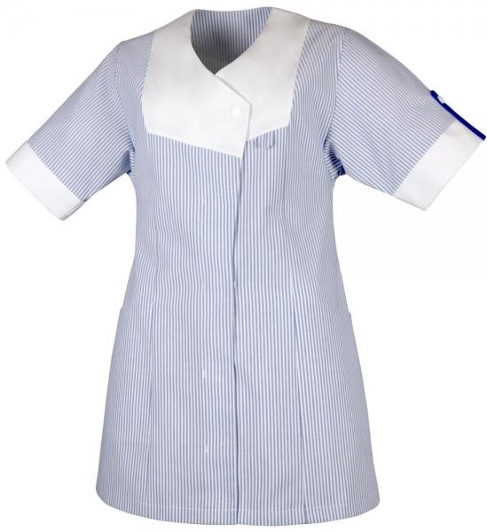 Teamdress-Service, Damenkasack, blau/weiß gestreift