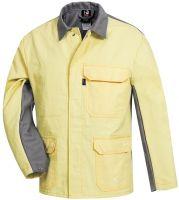 HB-Flammen-/Schweißer-Arbeits-Schutz-Berufs-Jacke, 420 g/m², mittelgrau/gelb