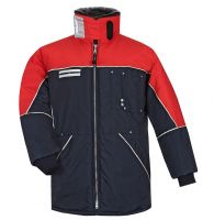 HB-Kälteschutz, Kommissionierer-Thermo-Arbeits-Berufs-Herren-Jacke, 510 g/m², navy/rot