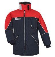 HB-Kälteschutz, Kommissionierer-Thermo-Arbeits-Berufs-Damen-Jacke, 510 g/m², navy/rot
