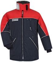 HB-Kälteschutz, Staplerfahrer-Thermo-Arbeits-Berufs-Jacke, 510 g/m², navy/rot