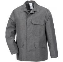 HB-Chemikalien-Schutzjacke, Arbeits-Berufs-Jacke, 260 g/m², grau meliert