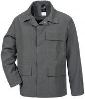HB-Chemikalien-Schutzjacke, Arbeits-Berufs-Jacke, 240 g/m², anthrazit