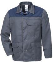 HB-Chemikalien-Schutzjacke, Arbeits-Berufs-Jacke, 240 g/m², anthrazit/dunkelblau