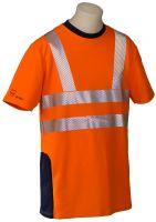 HB-Warn- und Wetter-Schutz-T-Shirt, 185 g/m², warnorange-rot/hydronblau