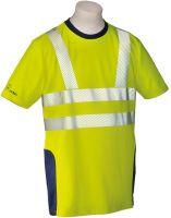 HB-Warn- und Wetter-Schutz-T-Shirt, 185 g/m², warngelb/hydronblau