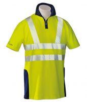 HB-Warn- und Wetter-Schutz-Poloshirt, 185 g/m², warngelb/hydronblau