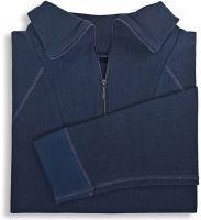 HB-Kälteschutz-Unterhemd, Troyer, 2-lagig, langarm, 264 g/m², navy