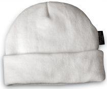 HB-Kälteschutz, Thermo-Arbeits-Berufs-,Strickmütze, weiß