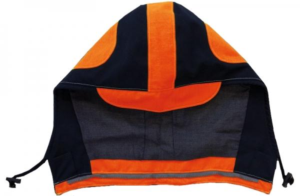 HB-Warn- und Wetter-Schutz-Kapuze, 385 g/m² warnorange-rot/navy