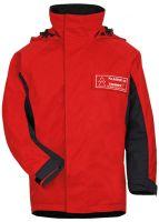 HB-Chemikalien-Schutzjacke, Arbeits-Berufs-Jacke, 240 g/m², rot/schwarzblau