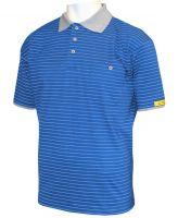 HB-ESD-Produktschutz-Herren-Poloshirt, kurzarm, 160 g/m², royal/silbergrau