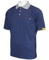 HB-ESD-Produktschutz-Herren-Poloshirt, kurzarm, 160 g/m², navy/silbergrau
