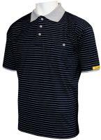 HB-ESD-Produktschutz-Herren-Poloshirt, kurzarm, 160 g/m², schwarz/silbergrau