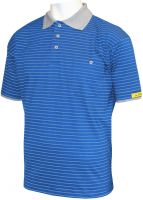 HB-ESD-Produktschutz-Damen-Poloshirt, kurzarm, 160 g/m², royal/silbergrau