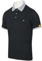 HB-ESD-Produktschutz-Damen-Poloshirt, kurzarm, 160 g/m², schwarz/silbergrau