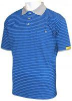 HB-ESD-Produktschutz-Herren-Poloshirt, kurzarm, 170 g/m², royal/silbergrau
