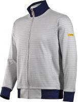 HB-ESD-Produktschutz-Sweatjacke, Arbeits-Berufs-Jacke, 300 g/m², silbergrau/navy