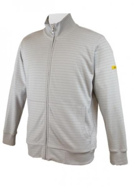 HB-ESD-Produktschutz-Sweatjacke, Arbeits-Berufs-Jacke, 300 g/m², silbergrau