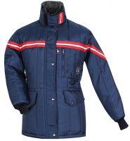 HB-Kälteschutz, Kommissionierer-Thermo-Arbeits-Berufs-Damen-Jacke, 415 g/m², navy/rot