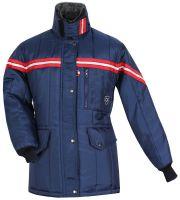 HB-Kälteschutz, Kommissionierer-Thermo-Arbeits-Berufs-Damen-Jacke, 420 g/m², navy/rot