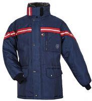 HB-Kälteschutz, Staplerfahrer-Thermo-Arbeits-Berufs-Jacke, Langzeit, 630 g/m², navy/rot