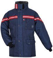HB-Kälteschutz, Staplerfahrer-Thermo-Arbeits-Berufs-Jacke, 520 g/m², navy/rot
