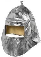 HB-Arbeits-Schutz, Schweißer-Haube, Flammen-/Schweißerschutz-Kopfschutzhaube, 460 g/m², silber