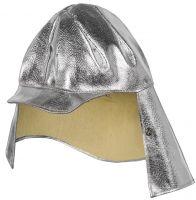 HB-Arbeits-Schutz, Schweißer-Haube, Flammen-/Schweißerschutz-Helmüberzug, 460 g/m², silber
