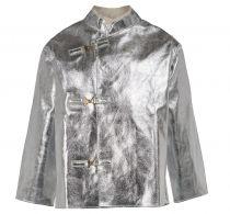 HB-Flammen-/Schweißer-Arbeits-Schutz-Berufs-Jacke, Hitzeschutz-Jacke, 665 g/m², silber