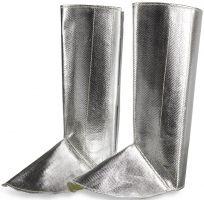 HB-Flammen-/Schweißer-Schutz-Gamasche mit Klett, 400 mm hoch, silber