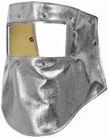 HB-Arbeits-Schutz, Schweißer-Haube, Flammen-/Schweißerschutz-Gesichtsschild, 690 g/m², silber