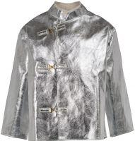 HB-Flammen-/Schweißer-Arbeits-Schutz-Berufs-Jacke, Hitzeschutz-Jacke, 585 g/m², silber