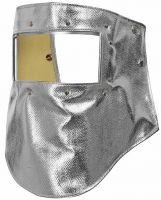 HB-Arbeits-Schutz, Schweißer-Haube, Flammen-/Schweißerschutz-Gesichtsschild, 585 g/m², silber