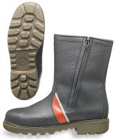 HB-Kälteschutz-S2-Winter-Sicherheits-Arbeits-Berufs-Schuhe, Isolierstiefel, schwarz/rot