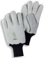 HB-Kälteschutz-Kommisionierer-Arbeits-Handschuhe, mittelgrau/schwarz