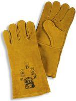 HB-Flammen-/Schweißerschutz-5-Finger-Schweisser-Arbeits-Handschuhe, 330 mm lang, reinorange