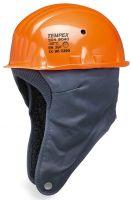 HB-PSA-Kopfschutz, Tempex-Kälteschutz-Sicherheits-Isolierhelm, Helm komplett, orange/dunkelblau