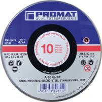 NORDWEST-PROMAT-Trenn-Flex-Schrupp-Scheiben, Trennscheibe INOX D115x1mm, ger.INOX Bohrung 22,23mm 10er Dose