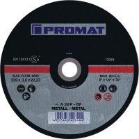 NORDWEST-PROMAT-Trenn-Flex-Schrupp-Scheiben, Trennscheibe D115x2,5mm, gekr.STA Bohr.22,23mm