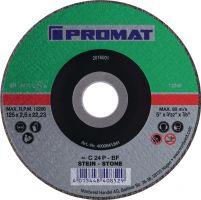 NORDWEST-PROMAT-Trenn-Flex-Schrupp-Scheiben, Trennscheibe D125x2,5mm, gekr.STE Bohrung 22,23mm