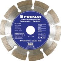 NORDWEST-PROMAT-Trenn-Flex-Schrupp-Scheiben, Diamant-Trennscheibe D.115mm Bohrung 22,23mm segmentiert 10mm