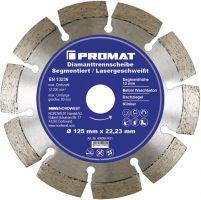 NORDWEST-PROMAT-Trenn-Flex-Schrupp-Scheiben, Diamant-Trennscheibe D.125mm Bohrung 22,23mm lasergeschweißt 12mm