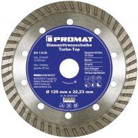 NORDWEST-PROMAT-Trenn-Flex-Schrupp-Scheiben, Diamant-Trennscheibe D.125mm Bohr.22,23mm Stahlkern 10mm
