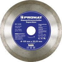 NORDWEST-PROMAT-Trenn-Flex-Schrupp-Scheiben, Diamant-Trennscheibe D.115mm Bohrung 22,23mm Fliesen 7mm